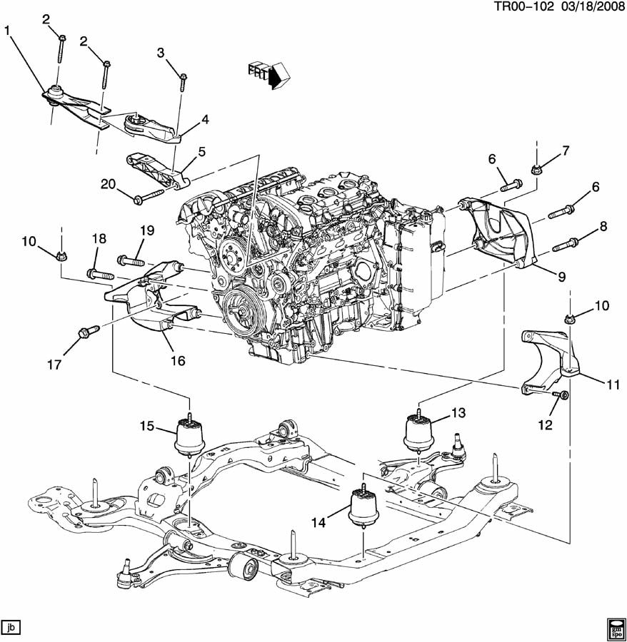 Buick Enclave Engine Mount Diagram Great Design Of Wiring 2011 Get Free Image About Body Parts 2008