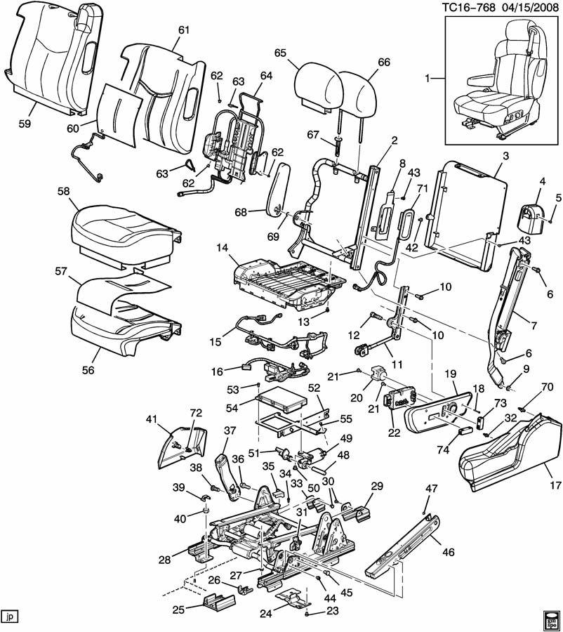 GM Harness. Seat Adjuster/recliner. Harness, D