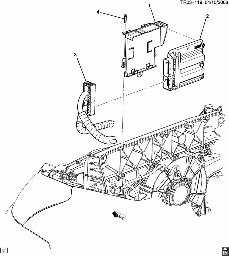 2011 gmc acadia e c m  module  u0026 wiring harness