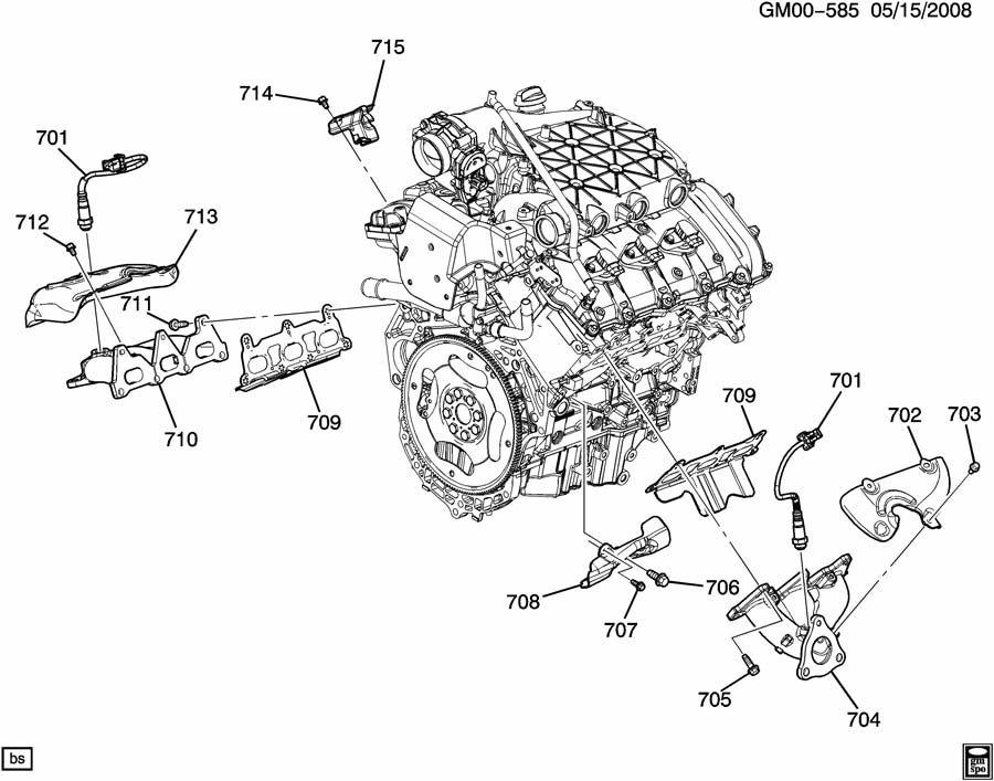 12588987 - Gmc Manifold  Engine Exhaust Manifold  Manifold  Exh  Mchg