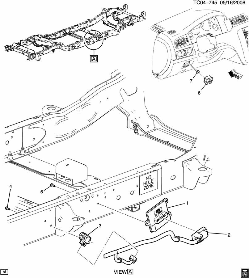 Chevrolet Silverado 2500 Module  Electronic Brake Control