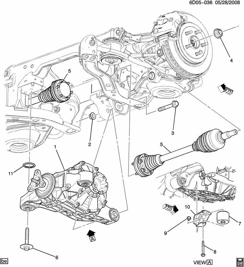 2008 Cadillac CTS DIFFERENTIAL CARRIER MOUNTING