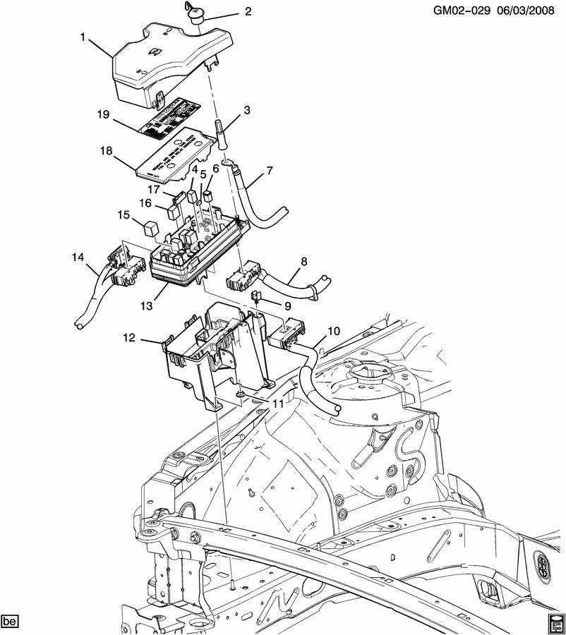 Buick Lucerne Block  Main Wiring Junction And Fuse Block