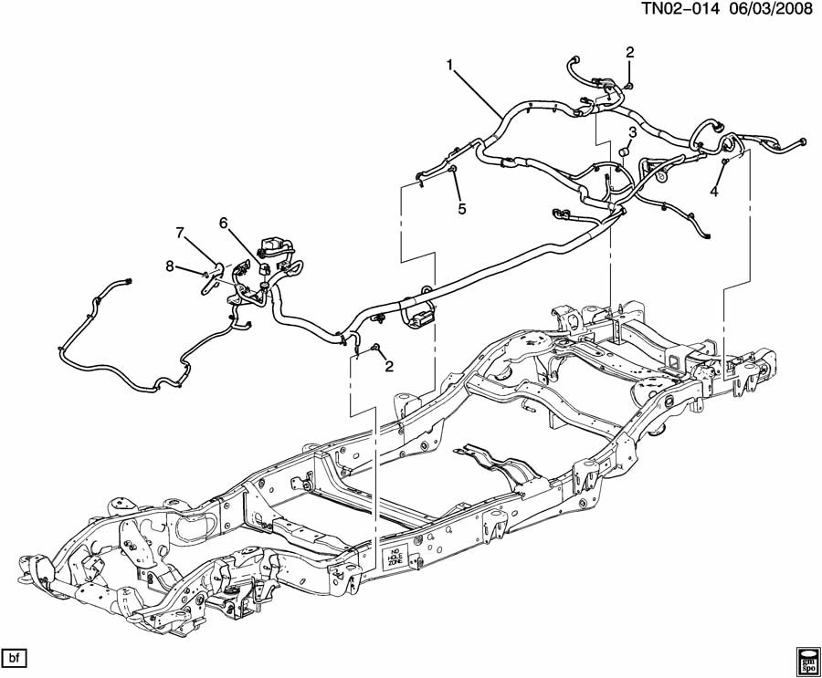 hummer h2 n2 wiring harness  chassis