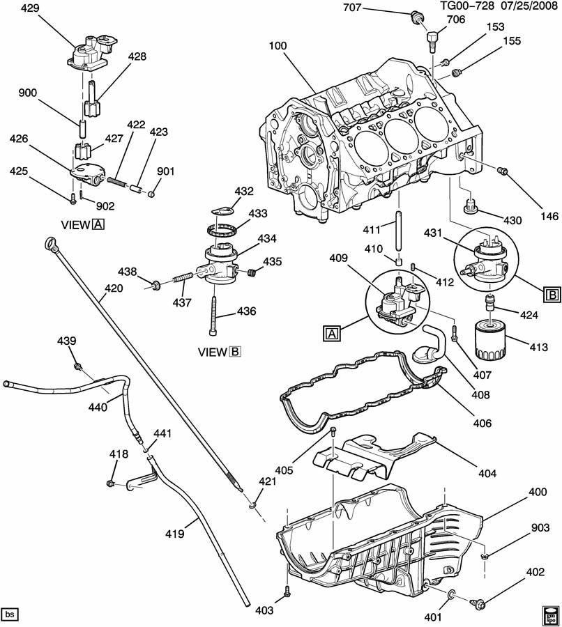 service manual  oil pump removal procedure for a 2009 gmc