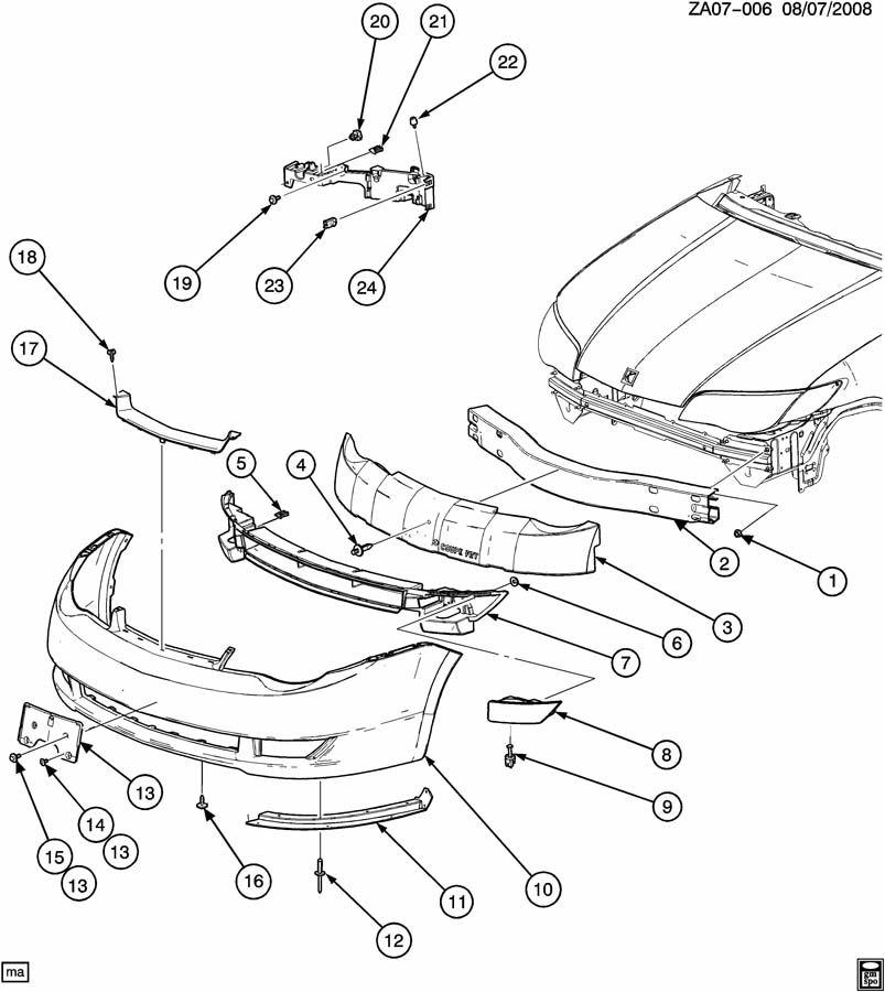 saturn aura bumper parts diagram auto wiring  saturn  auto