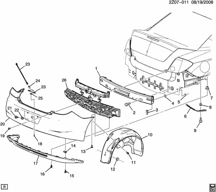 pontiac g6 bumper  rear