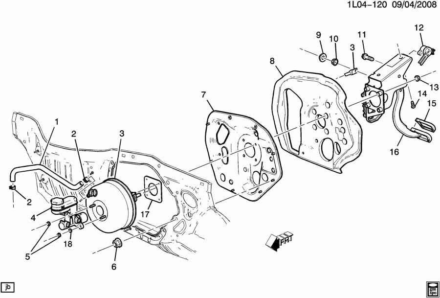 Chevrolet Equinox Hose  Vacuum Power Brake  Hose  P  B Boos