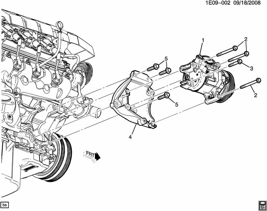 Chevrolet Camaro Bracket  Air Conditioning  A  C