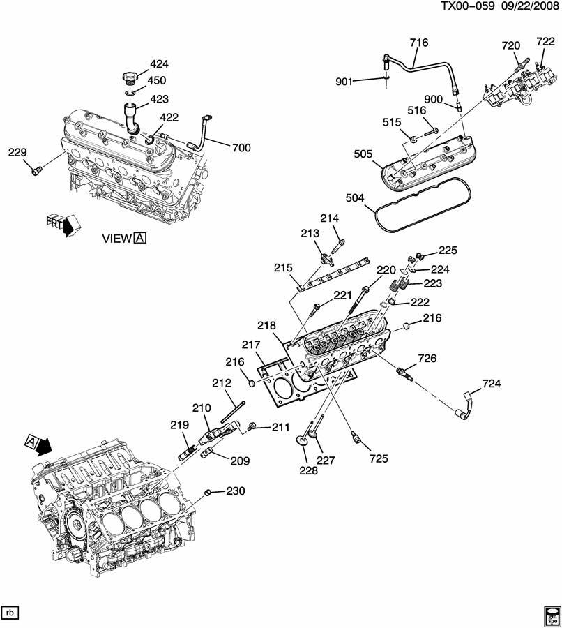 Engine Asm 5 3l V8 Part 2 Cylinder Head Amp Related Parts