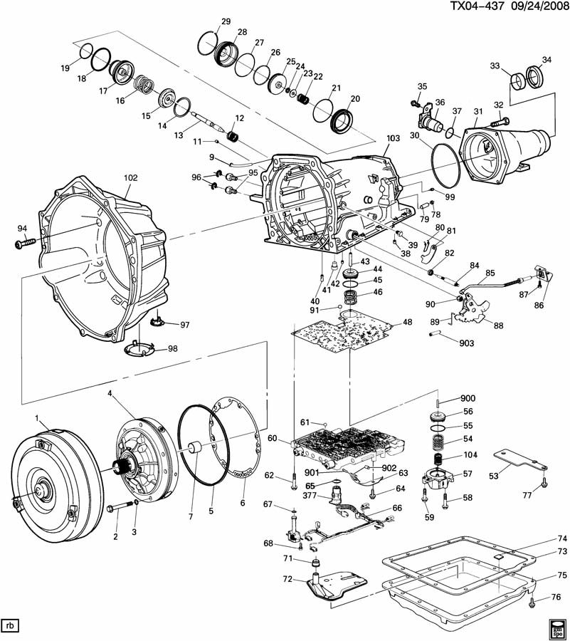 41801 4l60 E Tailshaft Seal Replacement on Chevrolet 5 3 Engine Diagram