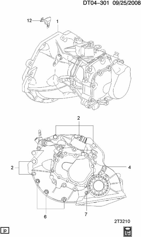 Diagram 5-SPEED MANUAL TRANSMISSION MOUNTING for your 2009 Chevrolet Aveo  Base 4DR