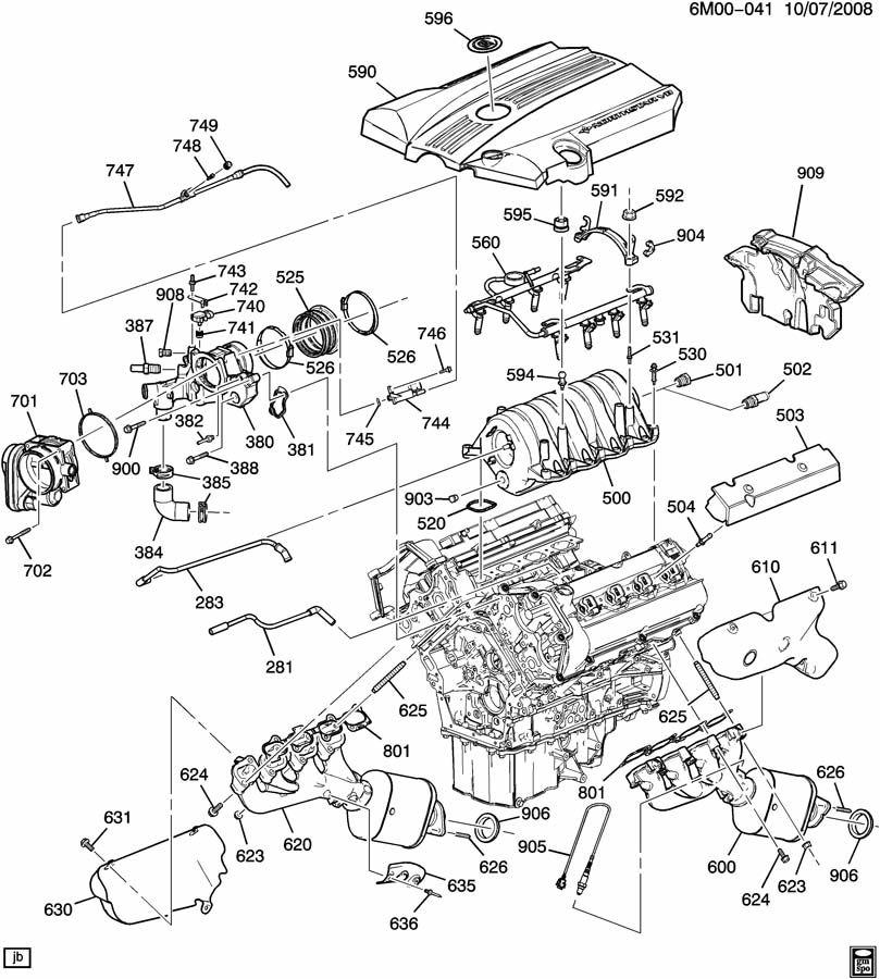 Cadillac Sts Bolt  Intake  U0026 Exhaust Manifold  Bolt  Int Manif W  Spcr  6x1x48   Bolt