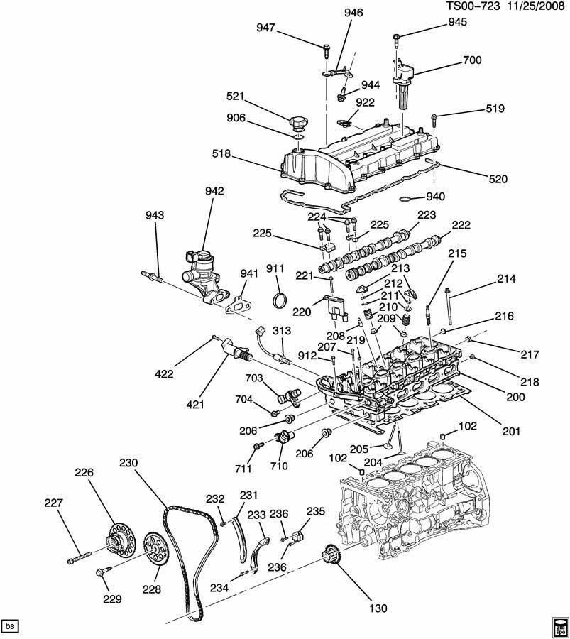 chevrolet colorado cover  engine valve rocker  u0026 camshaft