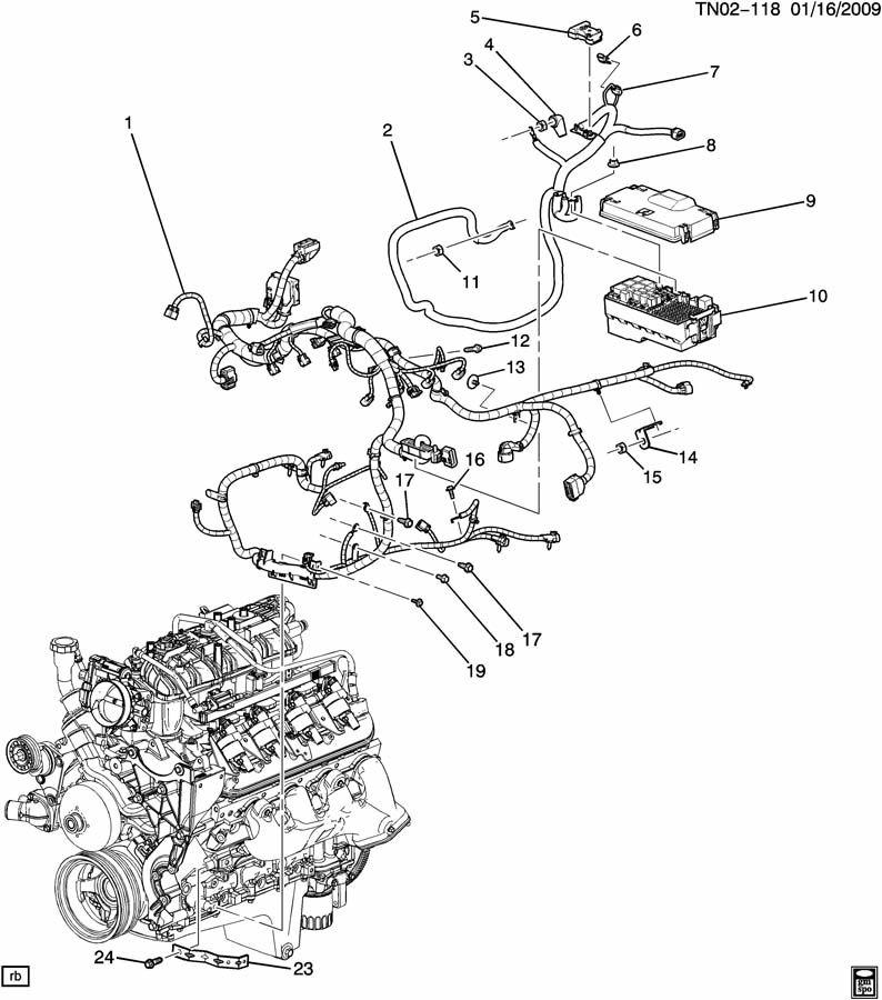 Hummer H3 Harness  Engine Wiring  Harness  Eng Wrg  U0026 Bat