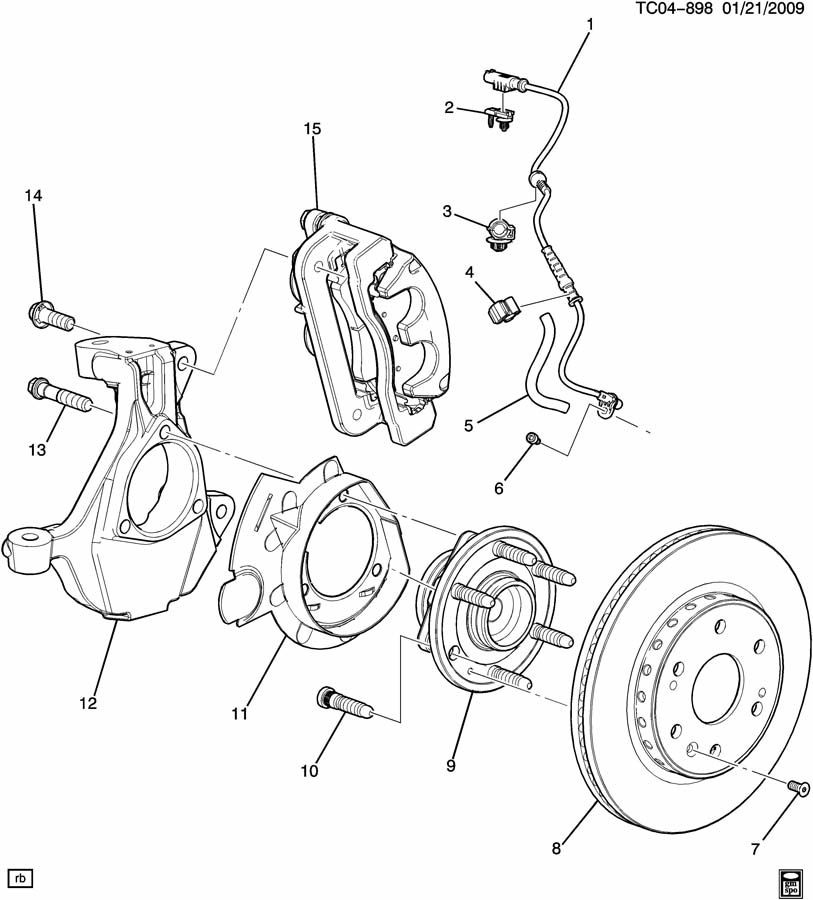 BRAKE CALIPER MOUNTING/FRONT & KNUCKLE