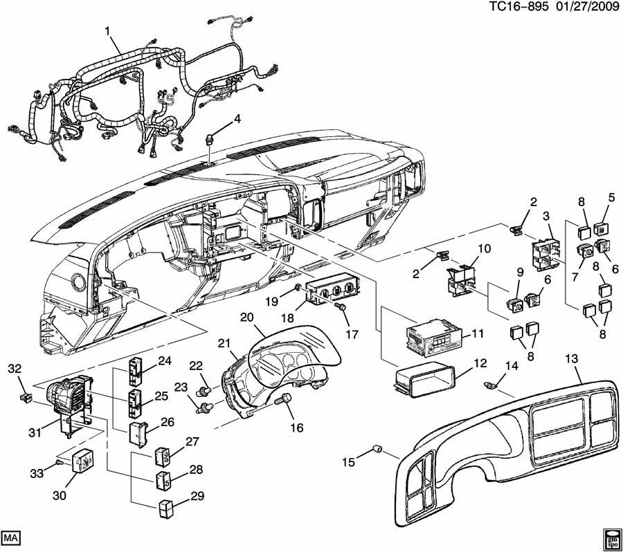 2001 Chevrolet Silverado Clip  Instrument Cluster  Bzlsteel  Bzlpo  Pltsteel  Bezelclipinsulator