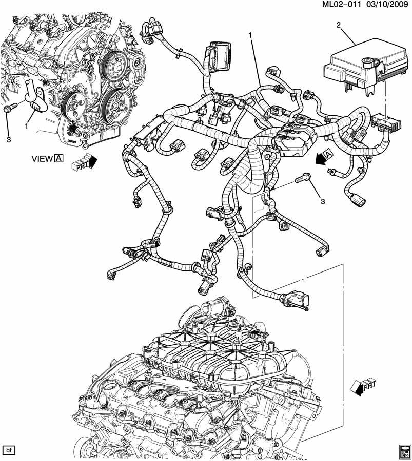2011 Chevrolet Equinox Ls Harness  Engine Wiring  Harness  Eng Wrg  Typefho  Harnessresistor