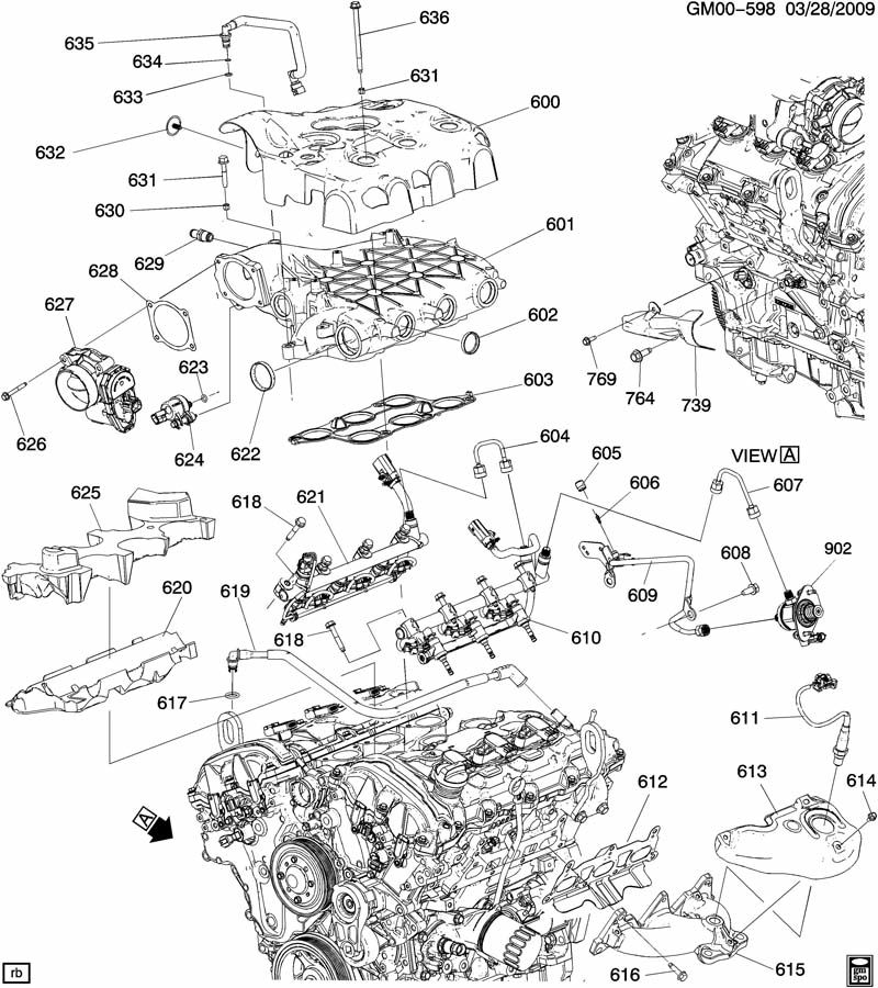Engine Asm 3 6l V6 Part 6 Manifolds Amp Related Parts