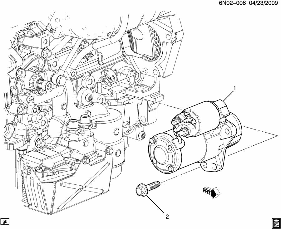 2011 Cadillac Srx Starter Motor Mounting