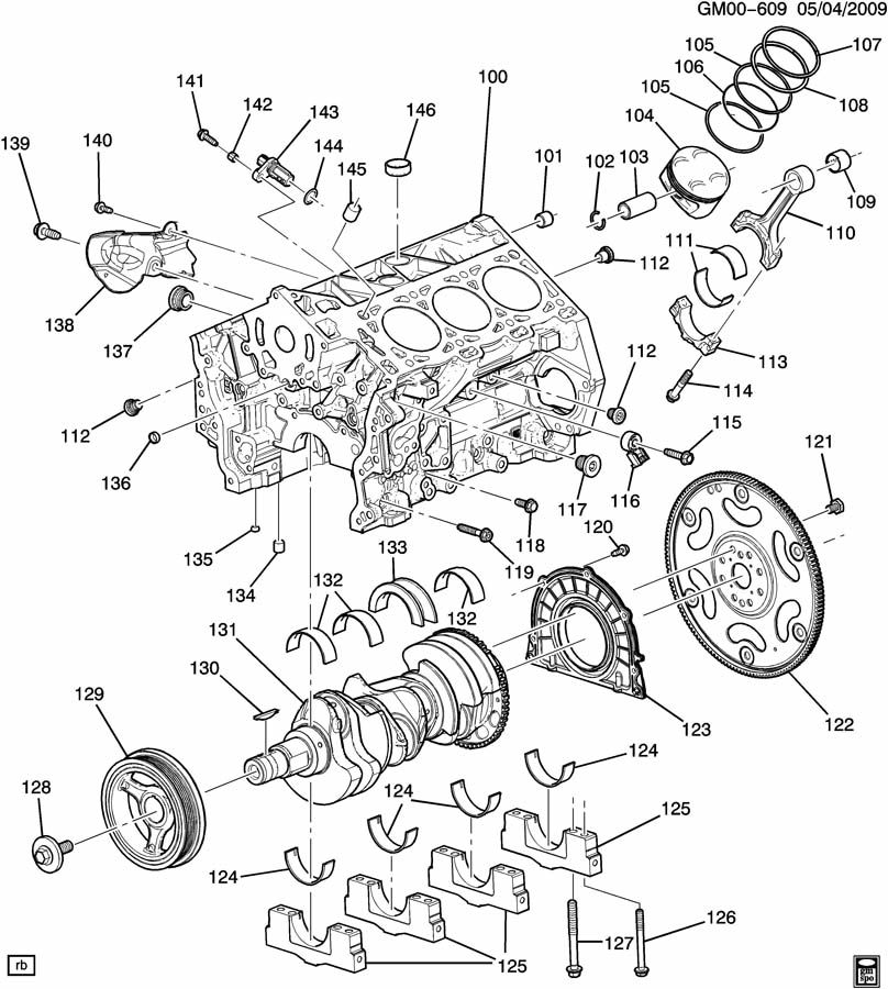 cadillac srx engine asm-2.8l v6 part 1 cylinder block ... buick century 3100 sfi engine diagram 2003 buick century 3100 engine diagram #7