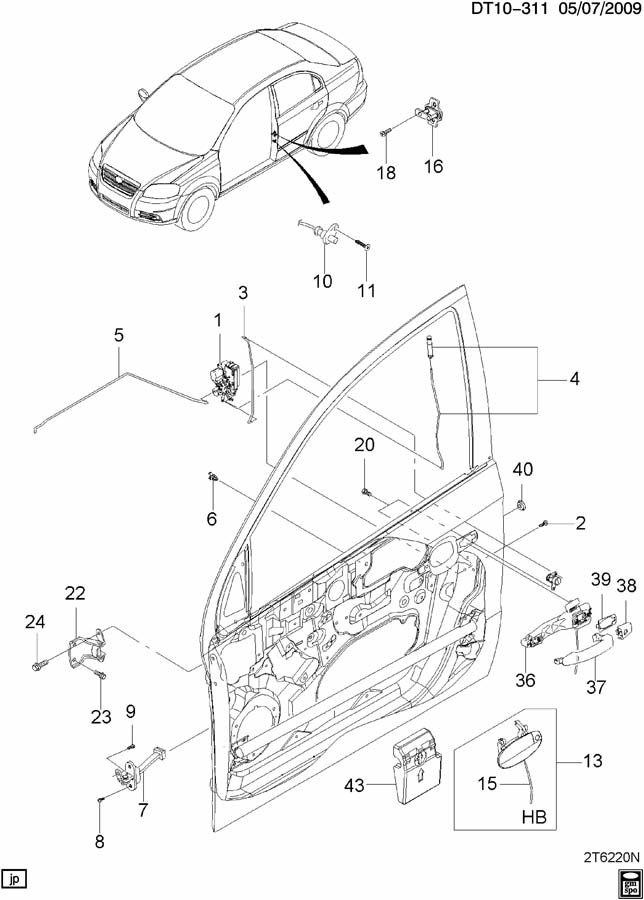 2010 Chevrolet Aveo Lt 4dr Hinge  Front Door Upper Hinge  Hinge  Frt S  D Upper And Lower