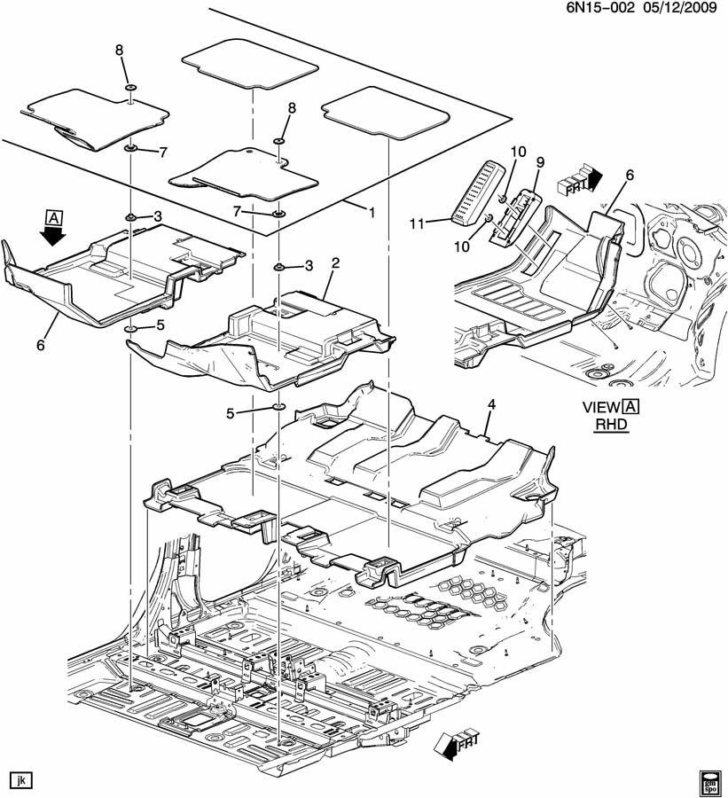 Cadillac Srx Retainer Kit  Front  Complete Floor  Kitflr