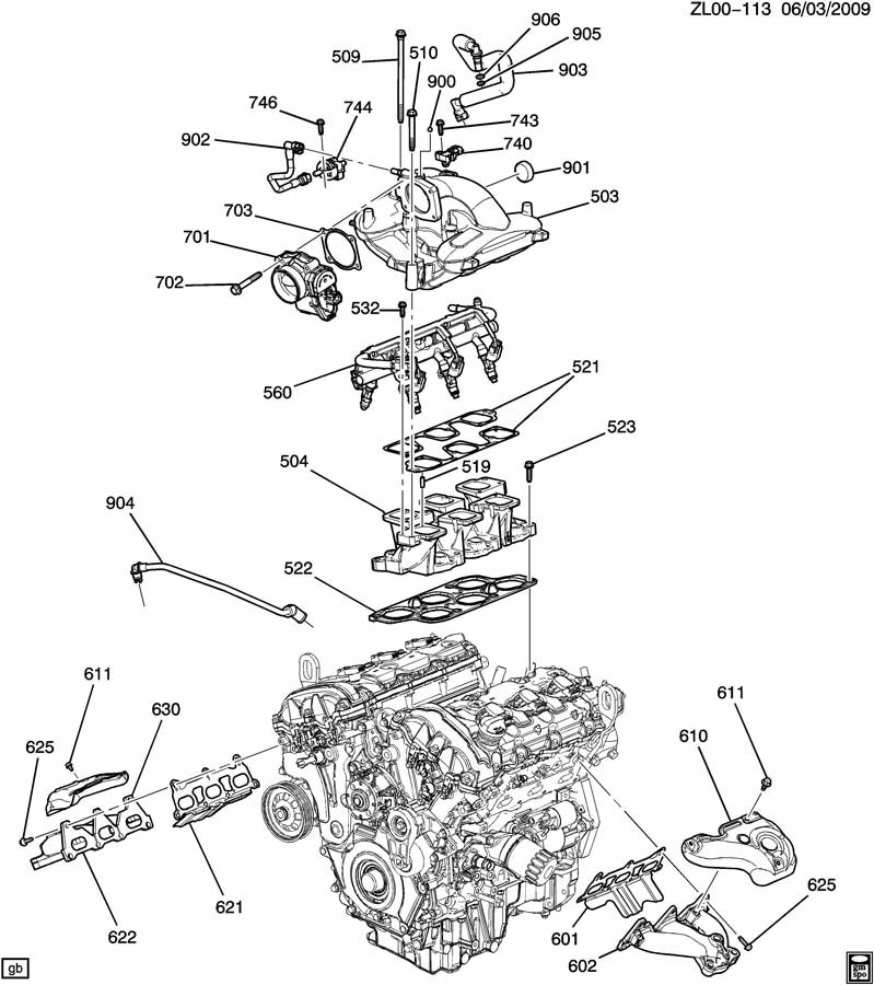 2008 chevy impala engine diagram