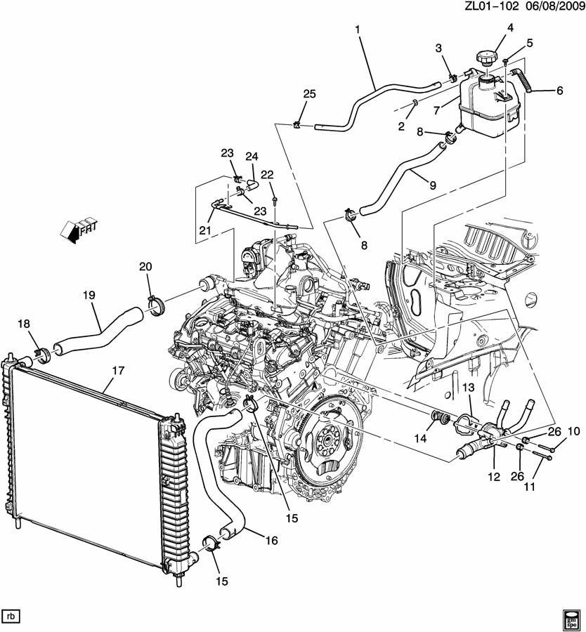 2008 Chevrolet Captiva Sport Ls Housing  Engine Coolant