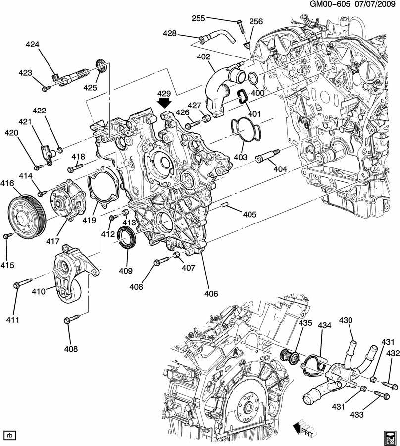 2014 Chevrolet Captiva Base Housing  Engine Coolant
