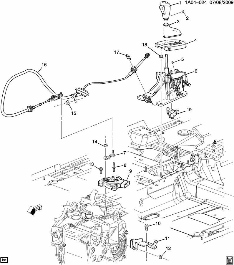 Chevrolet Cobalt Switch  Transmission Safety Start  Warning