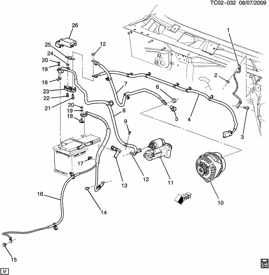 Chevrolet Silverado Cable  Battery Negative And Engine