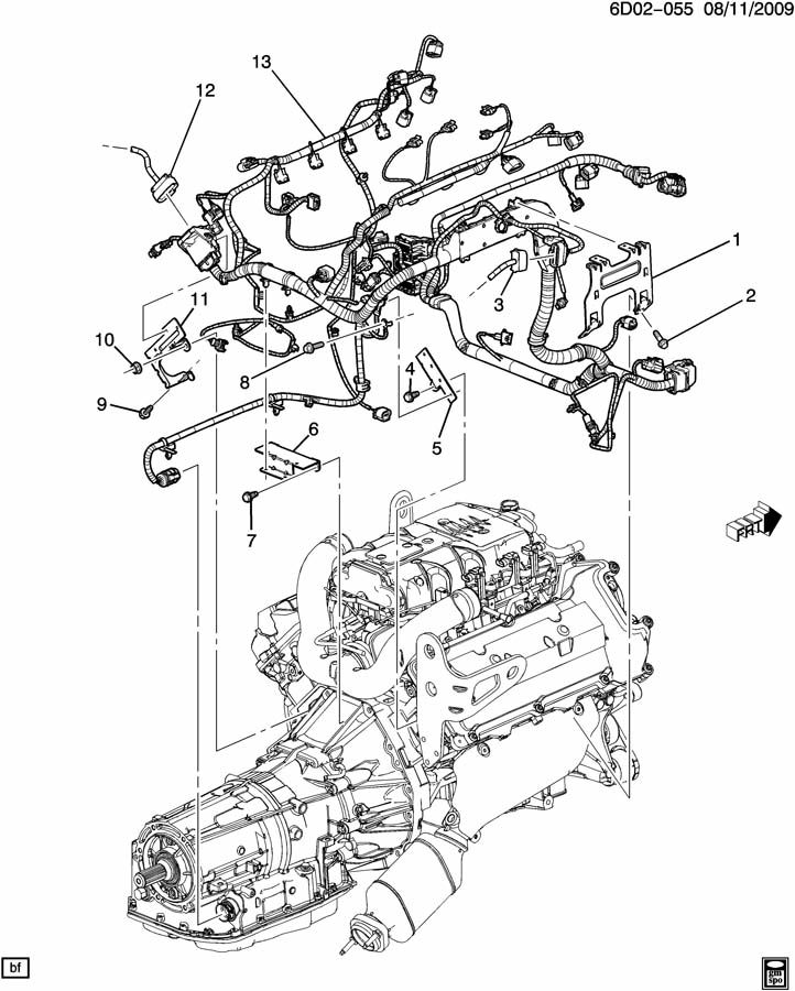 Cadillac Sts Bracket  Chassis  Engine Wiring Harness  Bracket  Eng Wrg Harn Channel