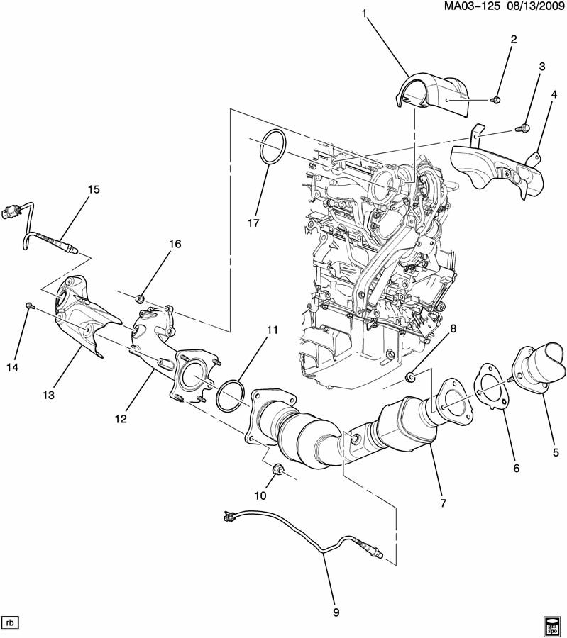 Chevrolet Cobalt Elbow  Choke Heater Or Air  Elbow  Turbo