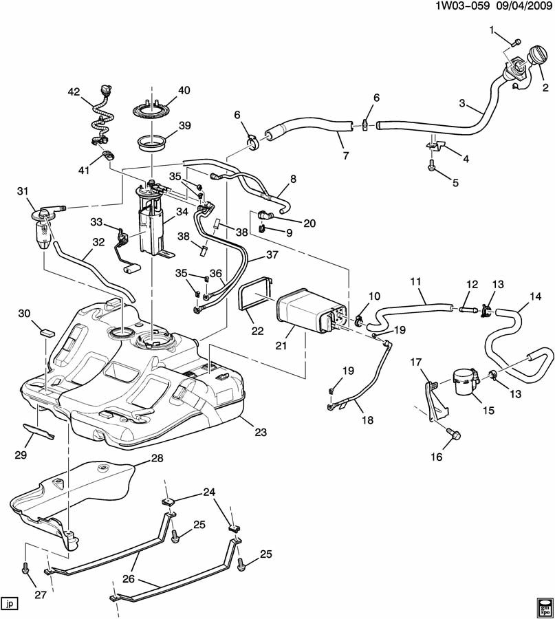 chevrolet impala strap  fuel tank evaporator  purge control  strap  evap emis cnstr