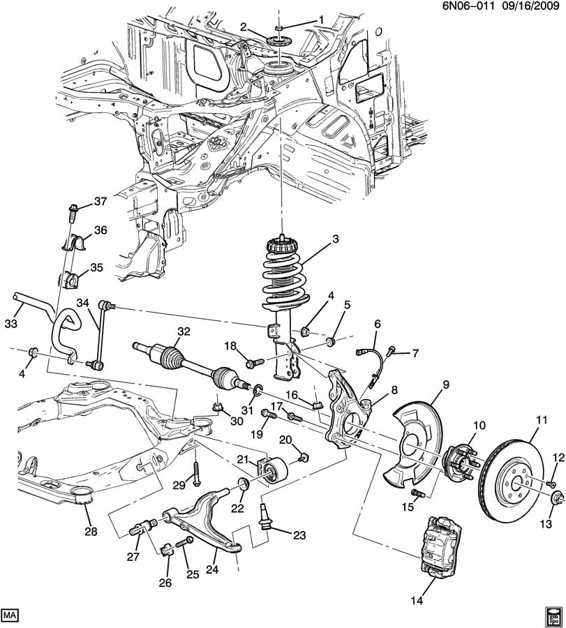 geo metro front suspension diagram