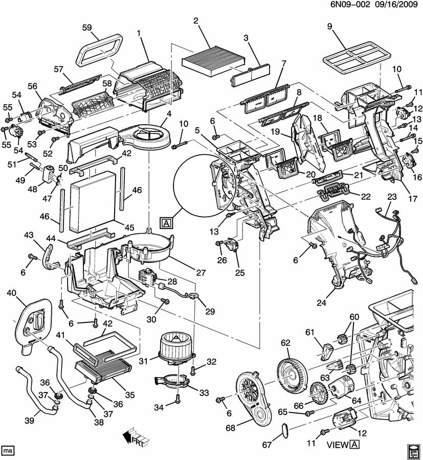Cadillac Srx Actuator  Air Conditioning  A  C  Control