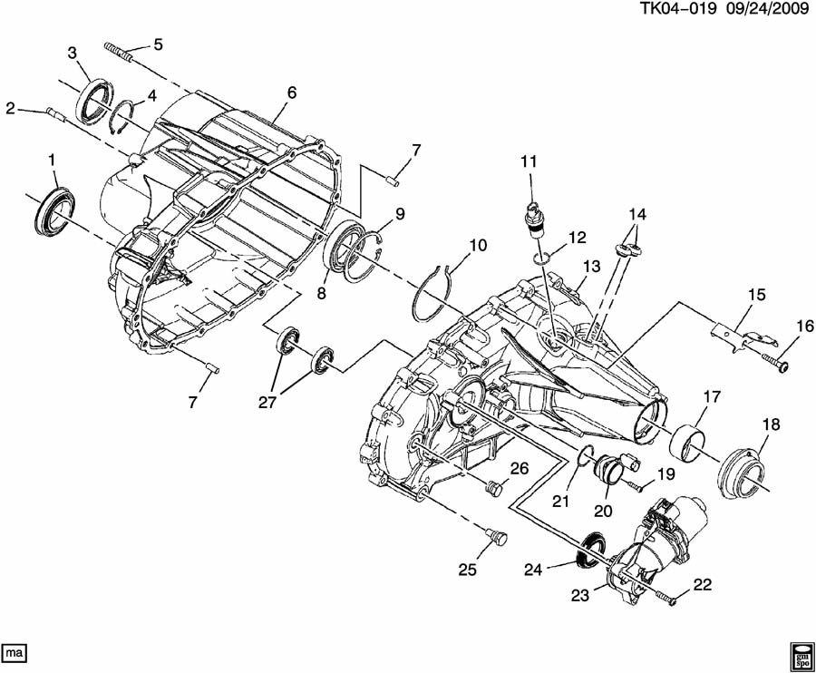Chevrolet Silverado Sensor  Transfer Case Shift Control