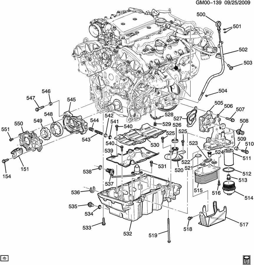 2010 Cadillac Srx Pan Assembly
