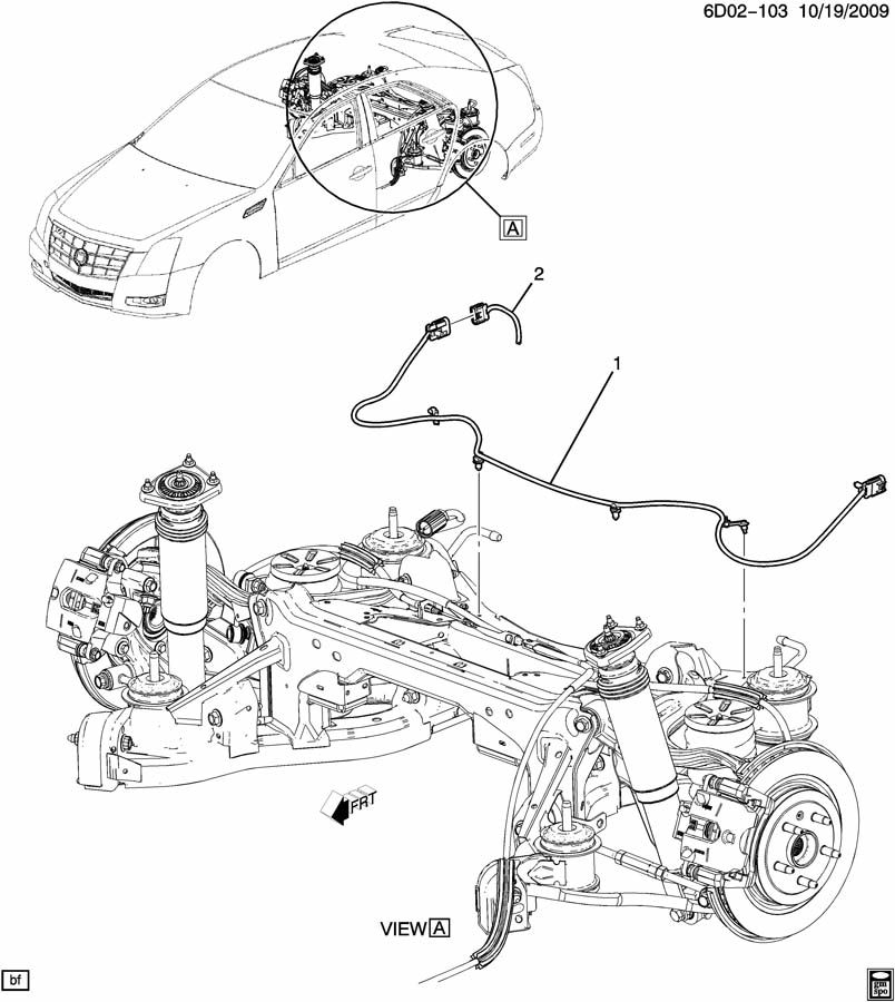 2011 Cadillac CTS WIRING HARNESS/CHASSIS