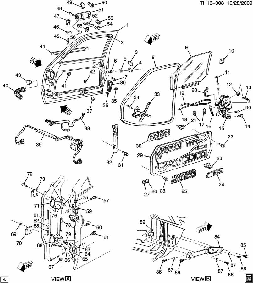 1996 Gmc Sonoma Gt Door Hardware