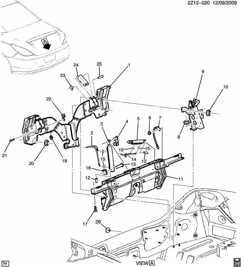 Pontiac G6 Parts Kit  Folding Top Assist  Roof Panel