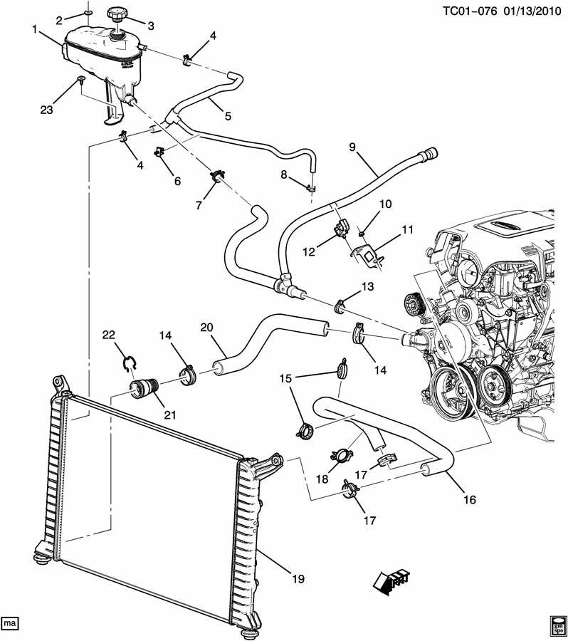 2011 Chevrolet Silverado 2500 Hose  Engine Coolant Recovery  Hose  Rad Surge Tk Inl