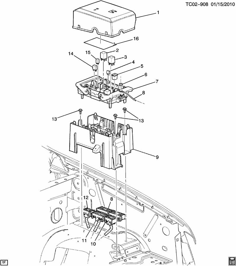block  engine harness junction