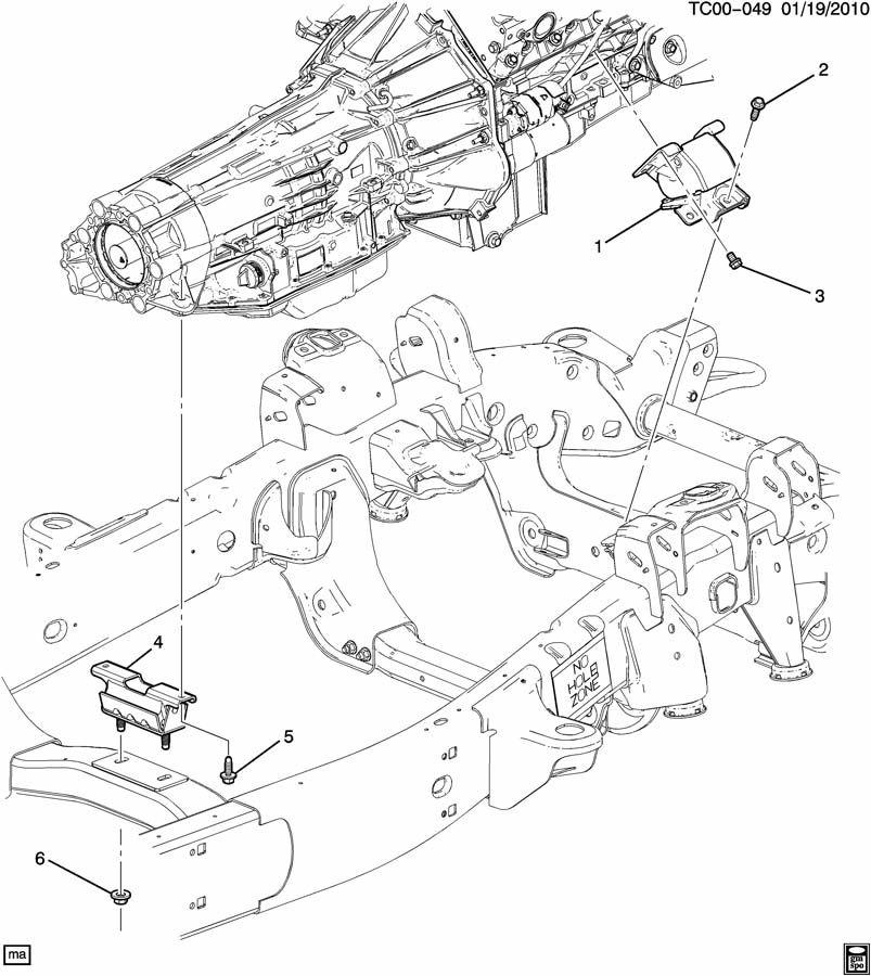 2000 Pontiac Sunfire Bolt  Mount  Transmission  4 3 Liter  5 3  U0026 6 2 Liter  5 7 Liter  1998