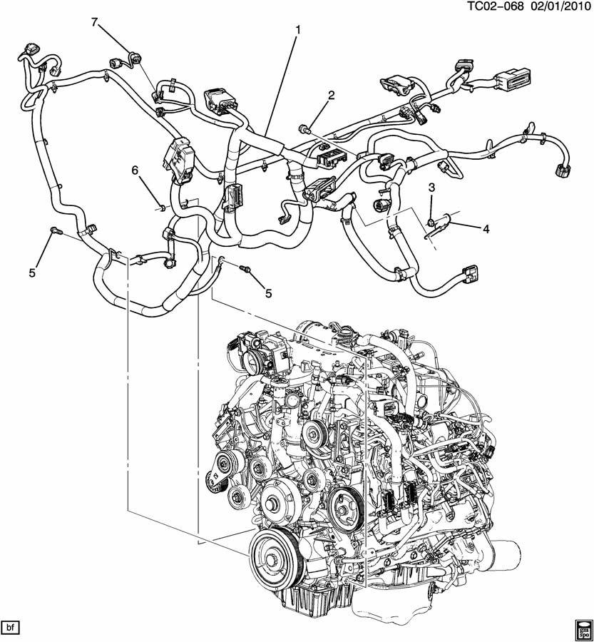 chevrolet tahoe wiring harness  engine part 1