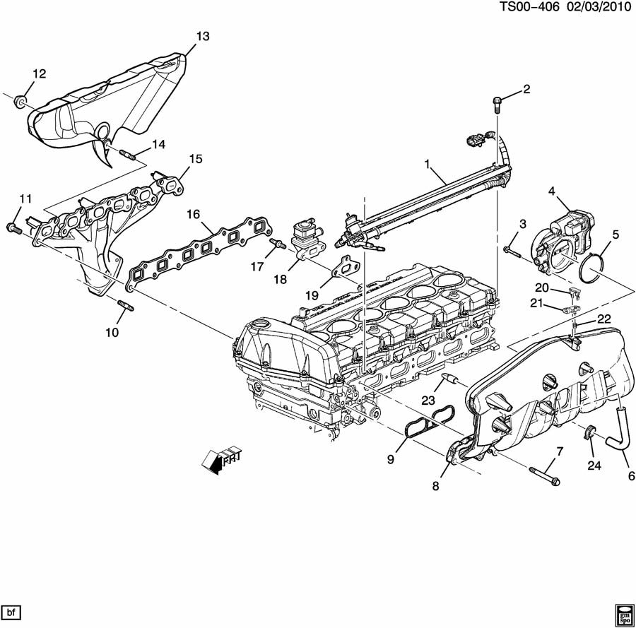 Chevrolet Trailblazer Cap  Intake Manifold Vacuum  Cap