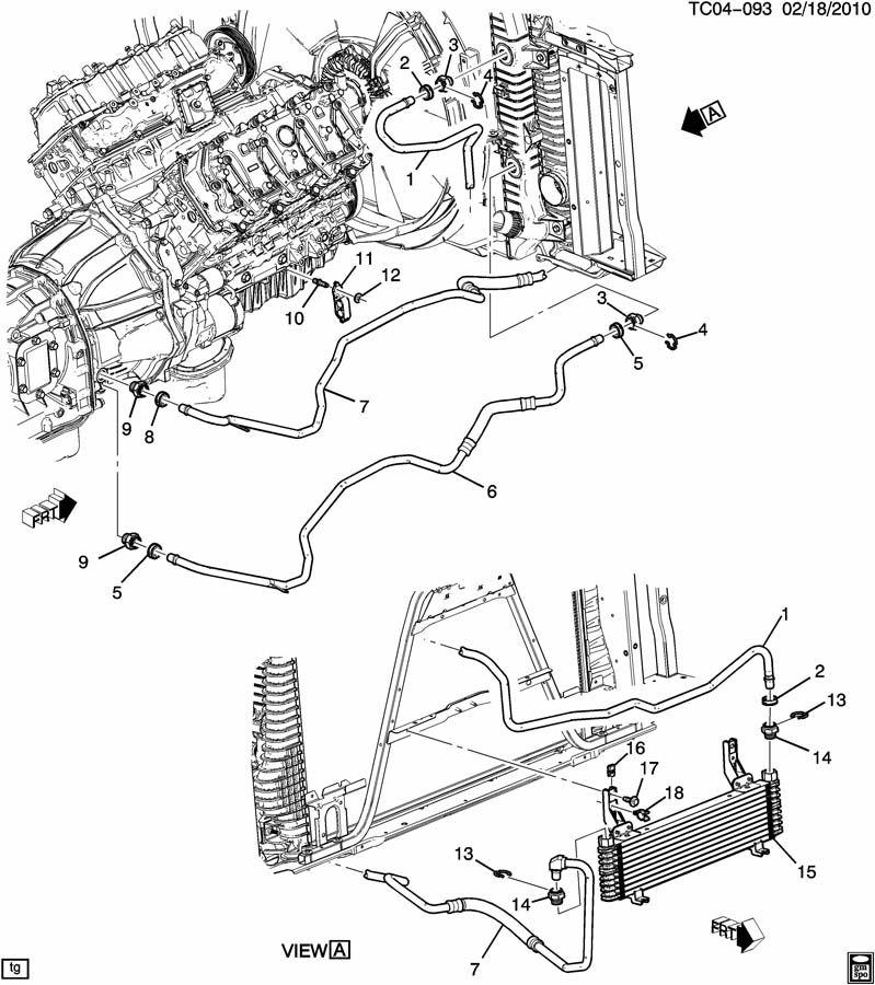 Chevrolet Silverado 2500 Connector  Engine Oil Cooler
