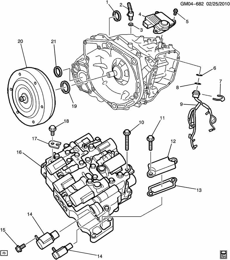 2008 Chevrolet 48l Transmission Control Module Diagram