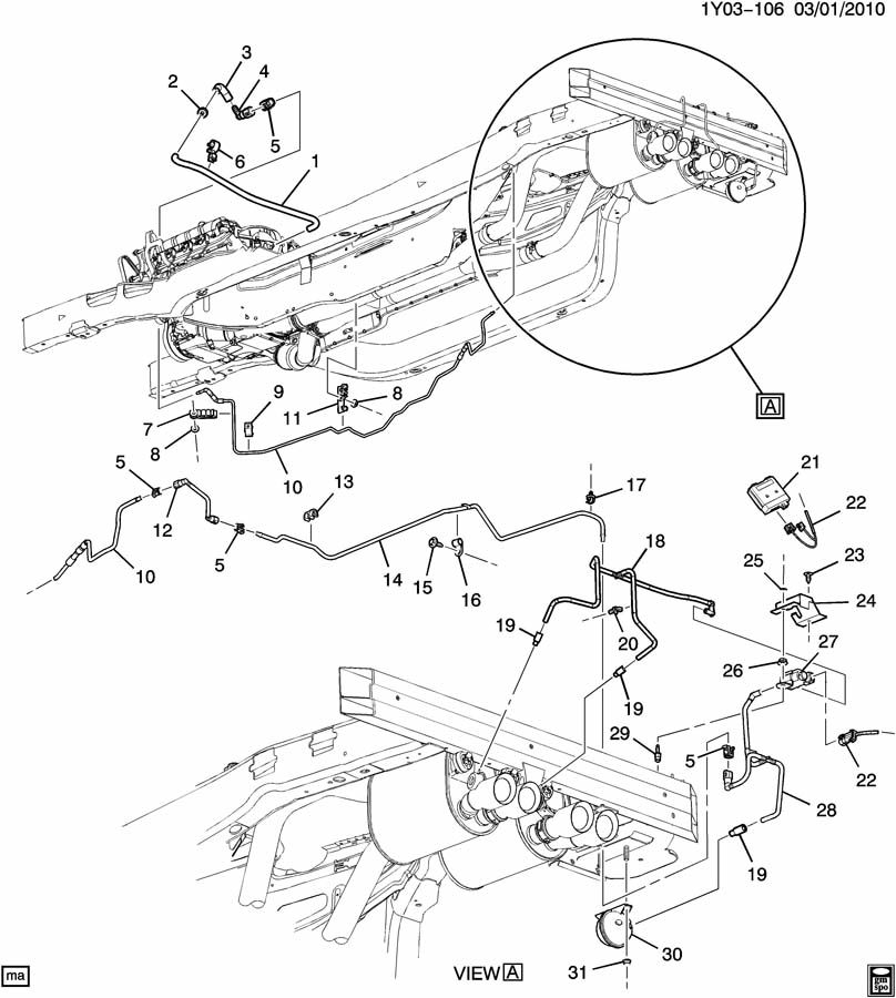 Chevrolet Corvette Valve  Engine Fuel Intake Manifold